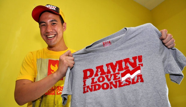 sablon kaos distro damn i love indonesia daniel mananta